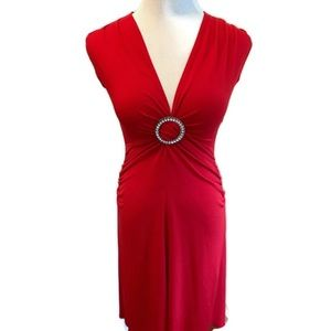 Candie's Red V-Neck Sleeveless Dress Sz S